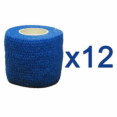 CMS Medical Vet Self Adhesive Cohesive Bandage 5cm Blue Sport Support Tape x12