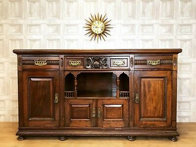STUNNING Antique Mahogany Sideboard - T. Simpson & Sons - Halifax *£80 DELIVERY*