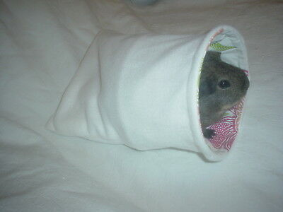 Chucklebunnies Guinea Pig snuggly cuddle house bed for 1 recycled fabric, cream