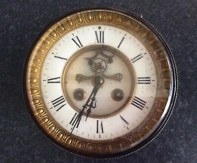 French mantel clock movement and dial for restoration