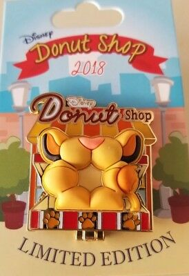 Disney Parks Donut Shop 2018 Lion King Simba Pin Limited Edition In Hand