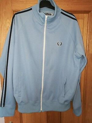 Vintage fred perry tracksuit top size large in blue