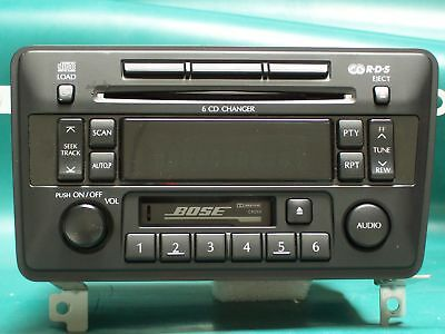 2002, 03 Bose Infiniti Qx4 Radio 6 Cd Changer