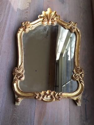 Vintage French Gold Gilt Wooden Mirror