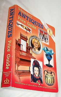Schroeder's Antiques Price Guide Book-602 pages-2003-Twenty-First Edition