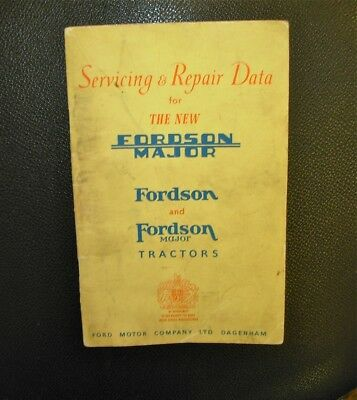 1956 Ford Fordson Major Tractor Service Manual Book Servicing & Repair