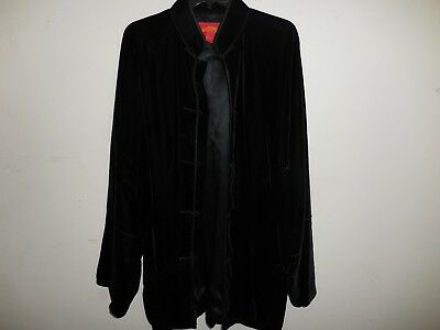 Auth. SHANGHAI TANG Dragon 100% Rayon/ 100% Silk Jacket Tunic Size XL