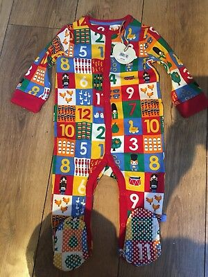*NEW* Little Bird by Jools 12 Days Christmas All-in-One/Sleepsuit 9-12 Months