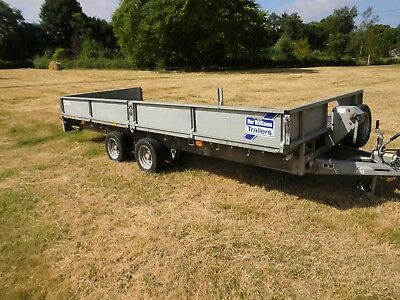"Ifor Williams Lm166 Trailer  16' Long 6'6"" Wide Good Condition"