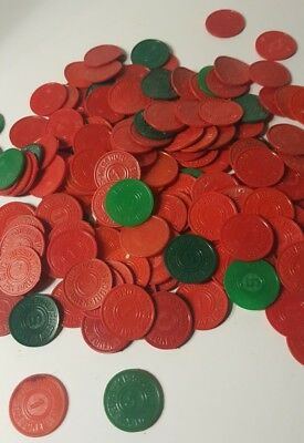 Lot Of 160 Missouri Sales Tax Tokens Red Marked 1 And Green Marked 5