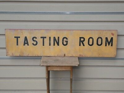 Old Vintage Original Winery Wine ''tasting Room'' Wood Sign Double Side Antique