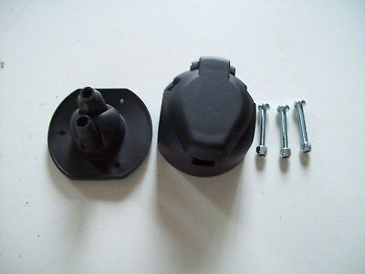 13 Pin Euro Socket + Twin cable entre Gasket & 3 Screws Caravan Trailer towing.