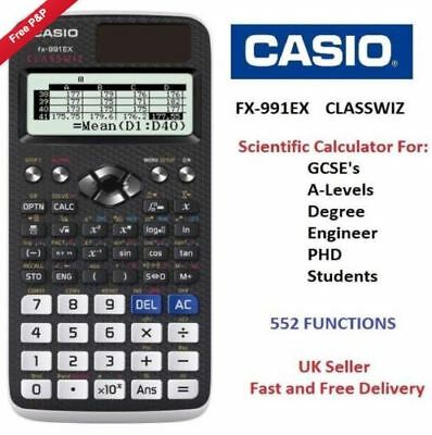CASIO FX-991EX  ClassWiz features Advanced Scientific Calculator 552 FUNCTIONSo
