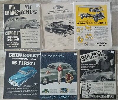 Lot of over 180 large Chevrolet Corvair Chevelle Car Ads 1940s 1950s 1960s