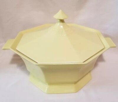 INDEPENDENCE IRONSTONE INTERPACE Yellow Daffodil Vegetable Server w Lid MCM