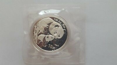 2004 CHINA PANDA 1oz .999 FINE SILVER COIN, 10 YUAN, MINT DOUBLE SEALED, BEAUTY