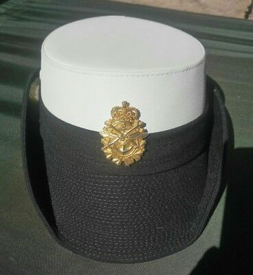 Royal Canadian Navy Women's Service Cap With Badge Size 23 1/2 L / XL