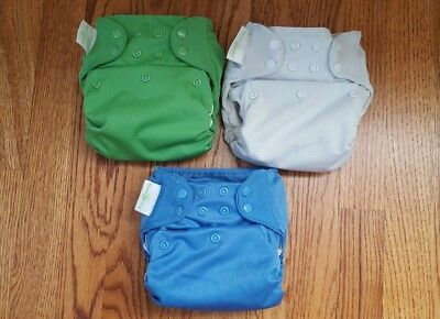 Lot of 3 bumGenius Elemental All in One Cloth Diapers One Size OS AIO