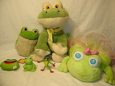 Frog Lot- Lots Of Green Frog Toys & Plush-Musical Crib Frog Frog Pillow