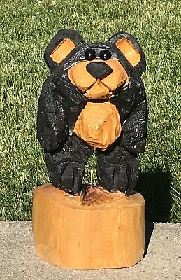 Chainsaw Carved Bear Carving Log Cabin Rustic Country Housewarming Decor