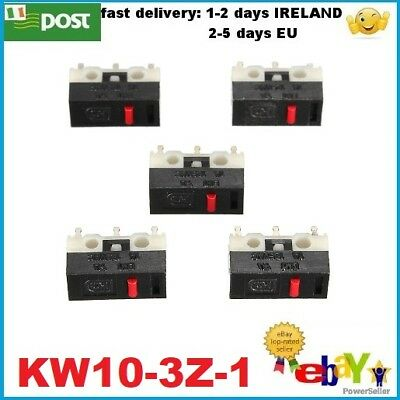 5Pcs AC 125V 1A 3Pins Momentary Push Button SPDT Micro Switches KW10-3Z-1