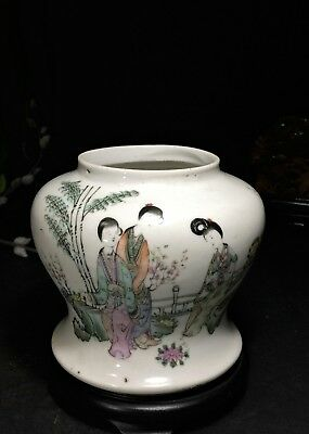 Rare Antique Chinese Porcelain Famille Rose Vase Republic Period or Earlier