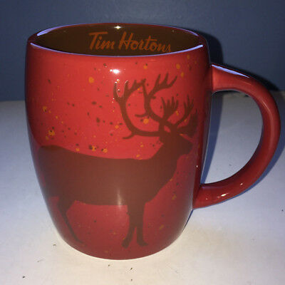 Tim Hortons 2016 Limited Edition Red Buck Deer China Coffee Mug