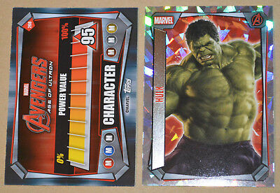 Topps Marvel MISSIONS TCG Super Holo Foil 260 Hulk (Avengers Age of Ultron) card