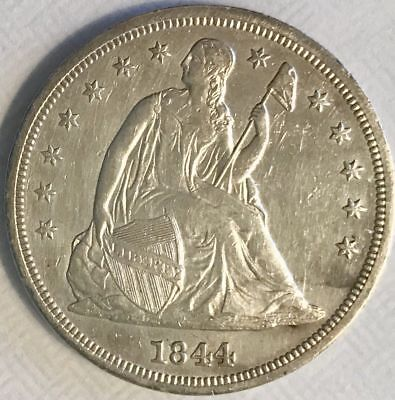 1844 Seated Liberty Dollar AU