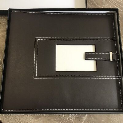 Brown Leather Scrapbook
