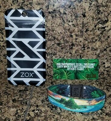 ULTRA RARE AND HARDLY EVER SEEN Zox Strap Bracelet Stay Salty With Pouch & Card!
