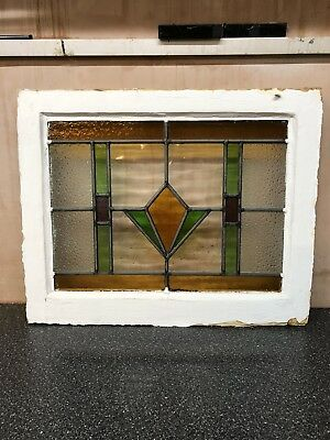 Vintage Stained Glass Window / Panel  Architectural Antique  Old