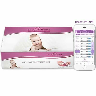 Easy@Home 100 Ovulation (LH) and 20 Pregnancy (HCG) Test Strips Kit, 100 LH + 20