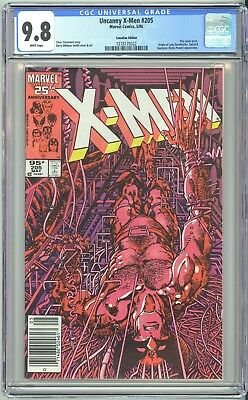 Uncanny X-Men #205 - Cgc 9.8 - .95 Canadian Newsstand Variant - Wp Nm/mt -