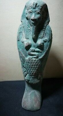 Ancient Egyptian ushabti of Ramses II with God ibis