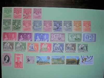 Small lot of used and unused vintage stamps from Basutoland