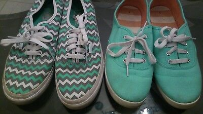 Vans and Balance  2 for 1  teal and white