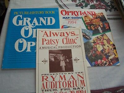 1994 Grand Ole Opry Picture History Book-Opryland Map & Guide & Ryman Program
