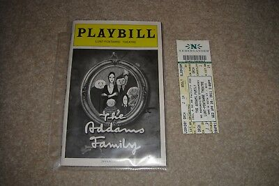 Broadway Playbill The Addams Addam's Family & Ticket April 2011 Lunt-Fontaine