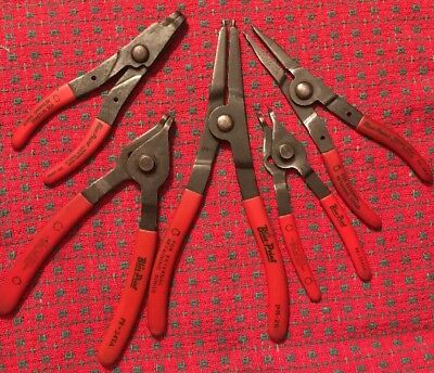 Lot of 5 BLUE POINT TOOLS Convertible Snap Retaining Snap Ring Pliers. PR Series