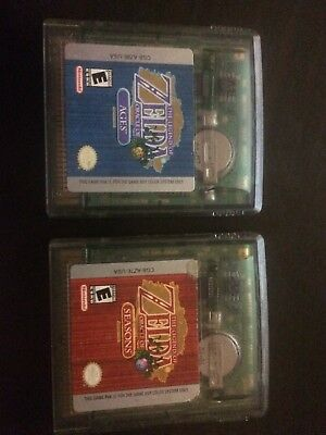 The Legend Of Zelda Oracle Of Ages and Oracle Of Seasons Nintendo Gameboy Color