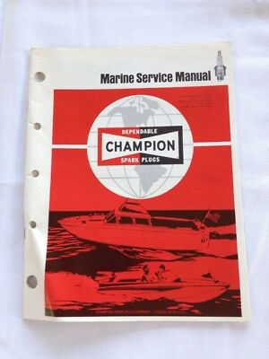 Champion Spark Plugs Marine Service Manual *damaged