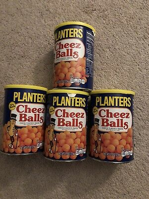 2018 PLANTERS (4) Cans CHEEZ BALLS Full In Can 2.75 OZ IN HAND READY TO SHIP