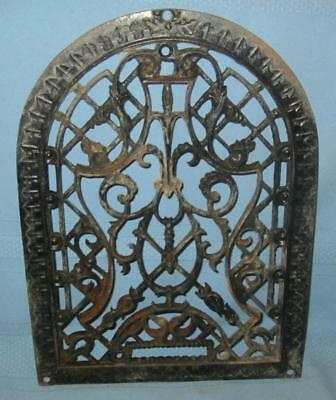 "Vintage Cast Iron Arched Register Grate Victorian 13 3/4"" X 10"" VERY NICE!"