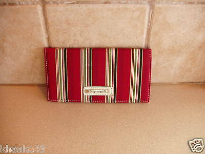 Longaberger Holiday Stripe Checkbook Cover With Photo Insert Nip * Free Shipping