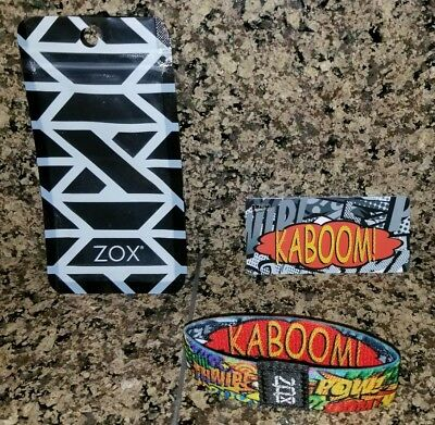 "ULTRA RARE AND HARDLY EVER SEEN Zox Strap Bracelet ""Kaboom"" With Pouch & Card!!!"
