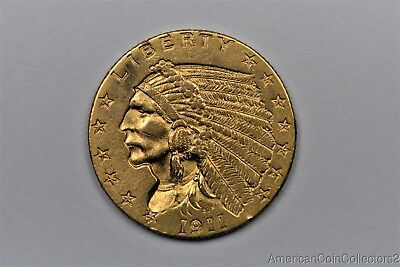 1911 Indian Head $2.50 Dollar Quarter Eagle Gold Coin LOOK No Reserve GOLD|11233