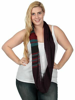 Lightweight Thin Infinity Scarf Circle Loop Fashion Scarves Wrap For Women Lady