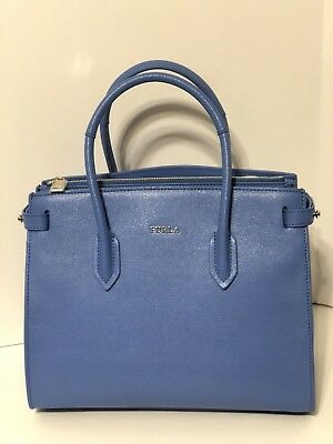NEW FURLA PIN Small East West Tote Celeste NWT -  200.00  742113642857b