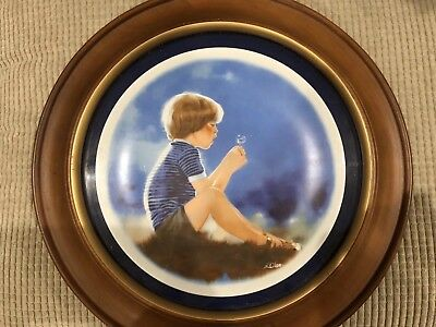 """Zolan's Children Collector's Plate - """"Eric and Dandelion"""" by Donald Zolan 1978"""